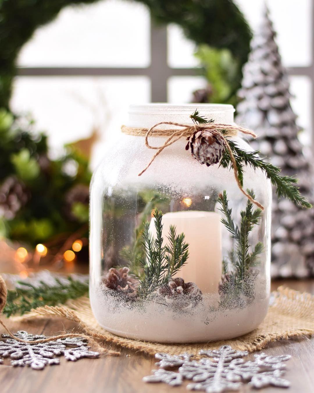 Коледен свещник с елхови клонки
