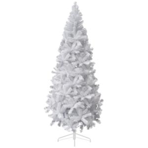 Тънка бяла коледна елха