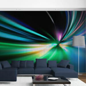 Голям фототапет за цяла стена с абстрактен дизайн Ръш