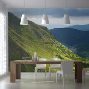 Фототапет за цяла стена с планински пейзаж Рийд