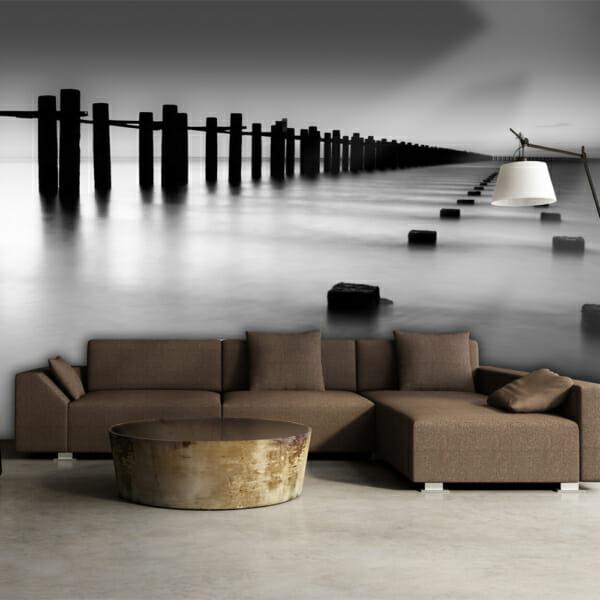 Фототапет XXL с черно-бяла фотография на река Темза