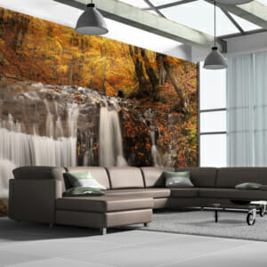 Фототапет XXL с есенен пейзаж и водопад