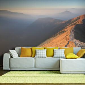 Фототапет за цяла стена с планински върхове