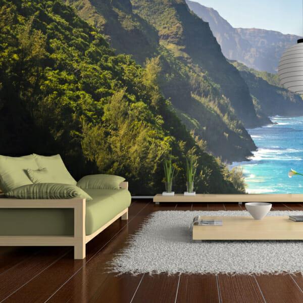 Фототапет за цяла стена с красиво крайбрежие Кауай
