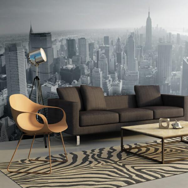Фототапет XXL с изглед към Ню Йорк в черно-бяло