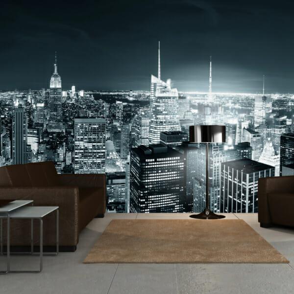 Голям фототапет с вечерен изглед от Ню Йорк