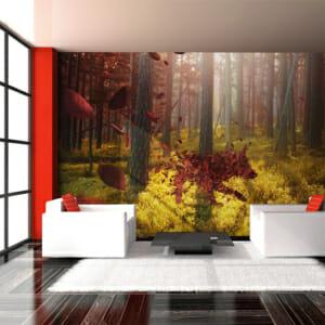 Фототапет за цяла стена с абстрактно животно в гора