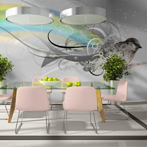 Фототапет XXL с абстрактна визия и птица Марлин