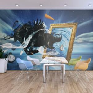 Фототапет за цяла стена с кон и абстрактна визия Флоранс