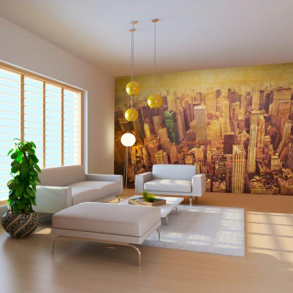 Фототапет за цяла стена с Ню Йорк от птичи поглед