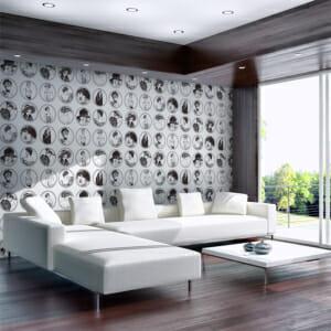 Фототапет XXL с черно-бели портрети в ретро стил