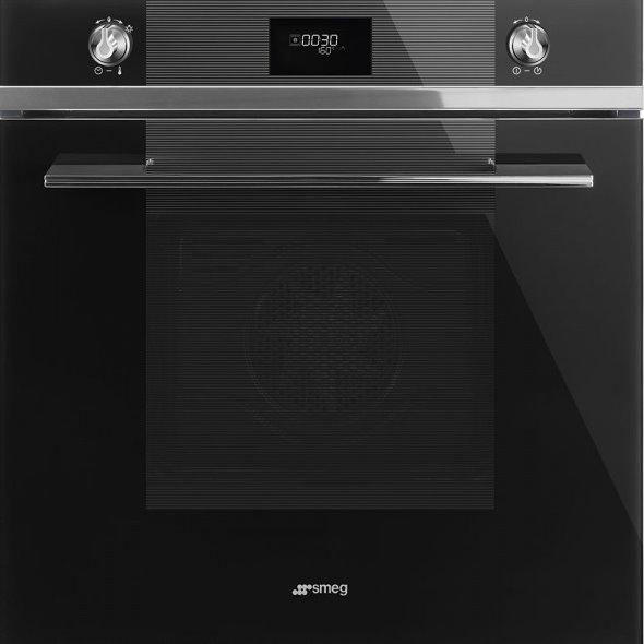 Фурна за вграждане с пиролитична функция SMEG (3 цвята) - черен