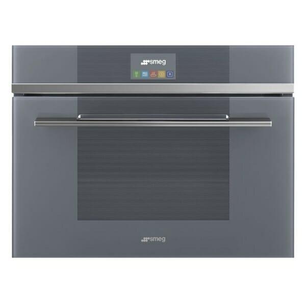 Комбинирана микровълнова печка за вграждане SMEG (2 цвята) - сива