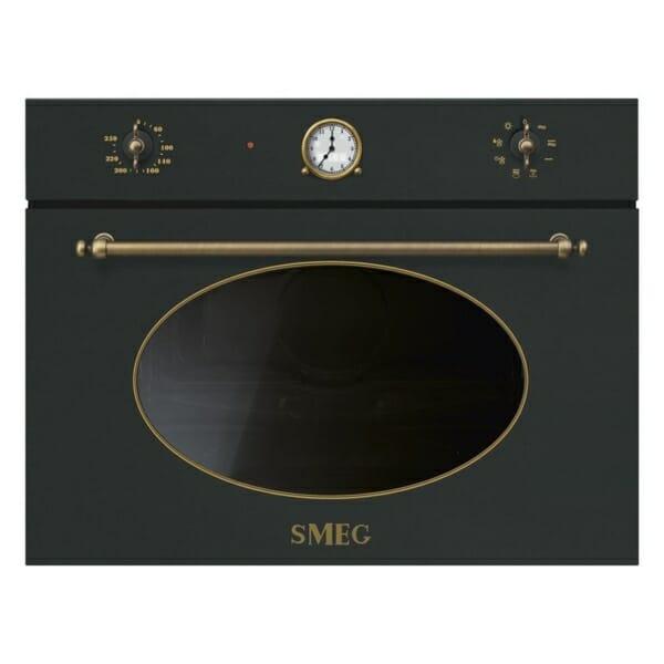 Микровълнова печка с грил серия Coloniale SMEG (2 цвята) - антрацит