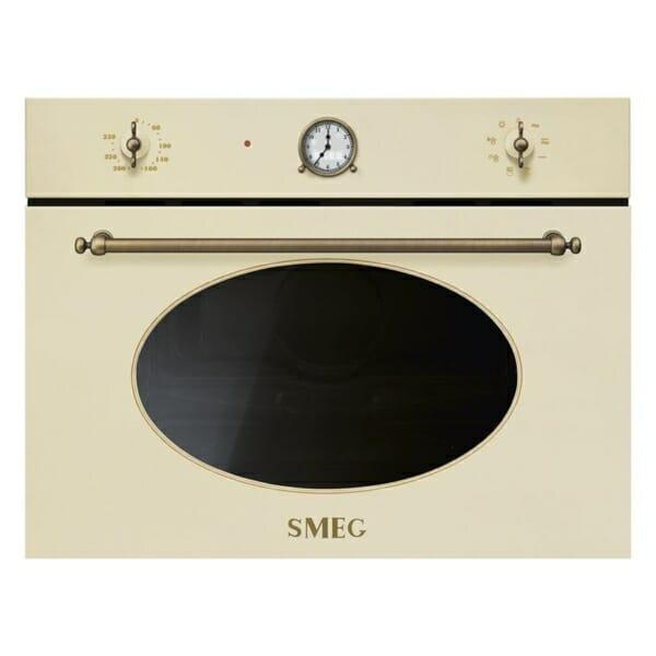 Микровълнова печка с грил серия Coloniale SMEG (2 цвята) - крем