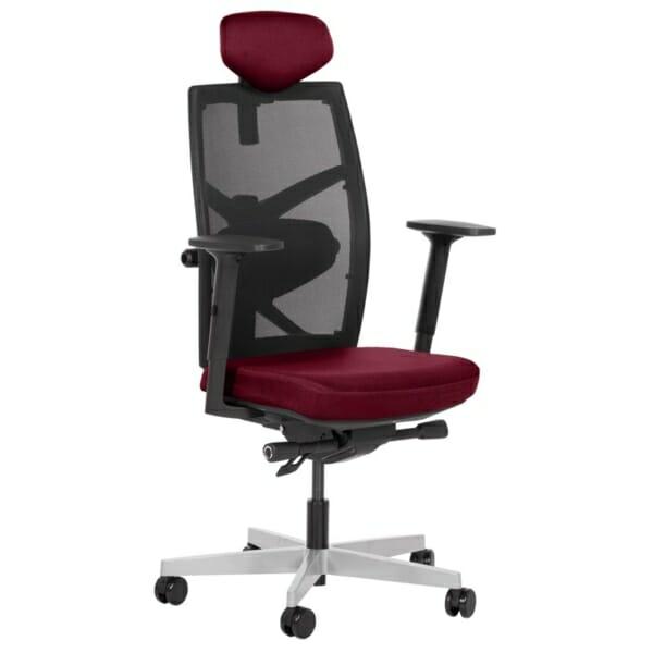 Удобен офис стол с много екстри (13 цвята) - бордо