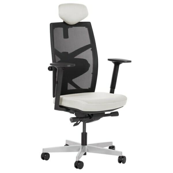 Удобен офис стол с много екстри (13 цвята) - бял
