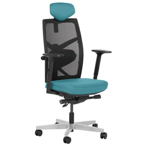 Удобен офис стол с много екстри (13 цвята) - тюркоаз