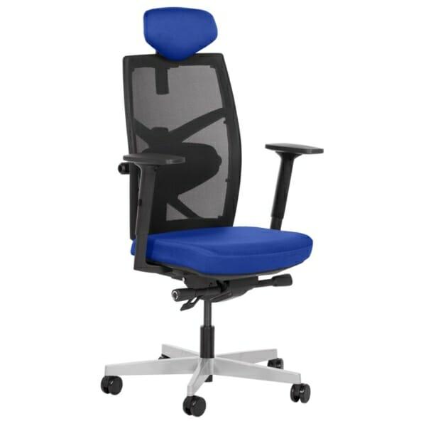 Удобен офис стол с много екстри (13 цвята) - тъмносин