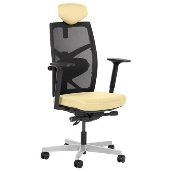 Удобен офис стол с много екстри (13 цвята) - жълт