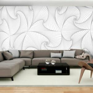 Фототапет за цяла стена Бяла илюзия