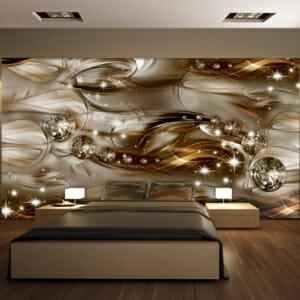 Фототапет за цяла стена в златисто Звездна фантазия
