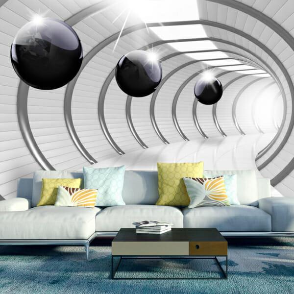 Голям фототапет с тунел и футуристична визия
