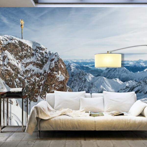 Фототапет XXL с планински пейзаж през зимата