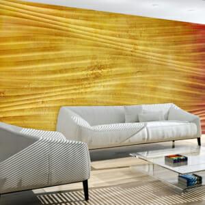 Фототапет XXL с 3D ефект в жълто Слънчева вълна
