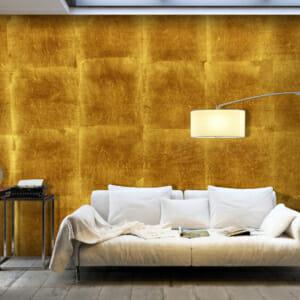 Фототапет за цяла стена в златисто Клементина