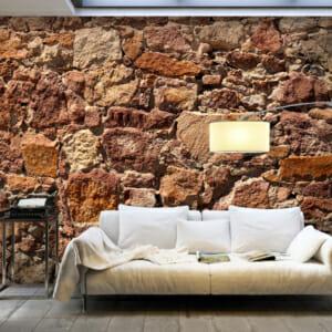 Фототапет XXL с каменна стена в кафяви тонове