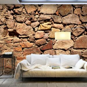 Фототапет XXL с каменна стена огрята от слънце