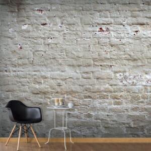 Голям фототапет с варосана тухлена стена Пиър