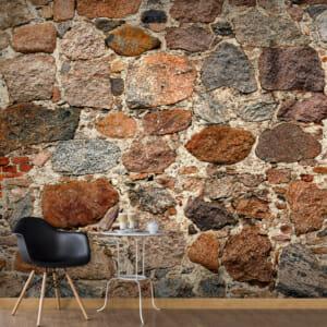 Фототапет XXL с каменна стена и 3D ефект