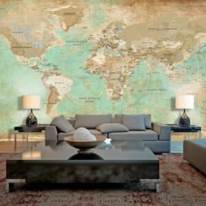 Фототапет XXL с географска карта на света
