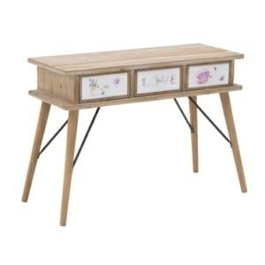 Дървена конзола с 3 чекмеджета в романтичен стил Love