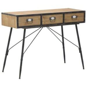 Конзолна маса с 3 чекмеджета и метална основа в индустриален стил