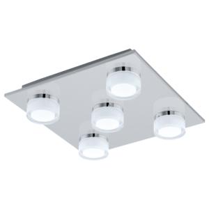Квадратен LED плафон с пет крушки серия Romendo 1