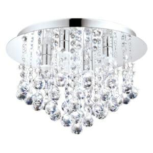 LED плафон за баня с кристални висулки серия Almonte размер 1