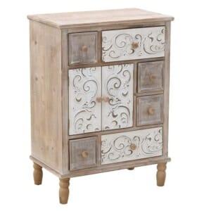 Винтидж дървен шкаф с 6 чекмеджета и 2 вратички Valencia
