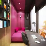 Уютно ъгълче за почивка в розово и сиво