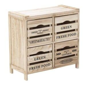 Дървен ретро шкаф с отделения като щайги - размер 3