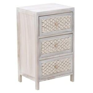 Дървен шкаф с декорация от въжета - вариант 1