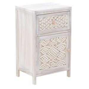 Дървен шкаф с декорация от въжета - вариант 2