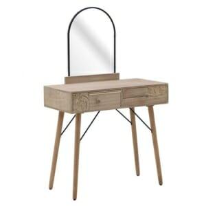 Дървена конзола с огледало и 2 чекмеджета с декорация Verona