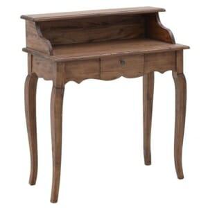 Дървено писалище с два плота и чекмедже