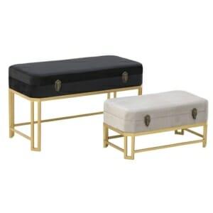 Комплект табуретки ракли в златисто с модерна визия
