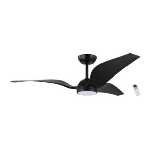 LED осветително тяло с вентилатор в черно серия Mosteiros