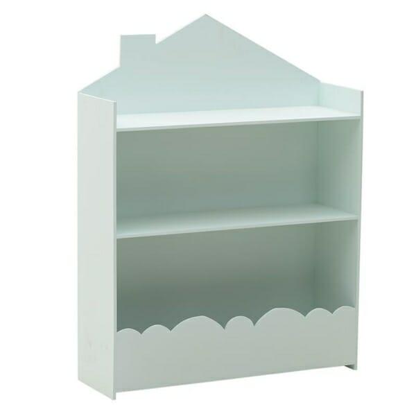 Стенна етажерка за детска стая като къща Cloud - синя