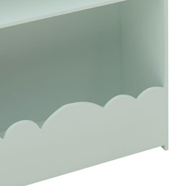 Стенна етажерка за детска стая като къща Cloud - синя - детайл